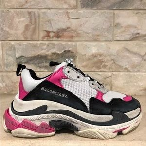 57edebe7c9ec Balenciaga Shoes - Balenciaga Triple S Pink Leather Trainers 37